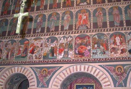 """Un EXTRATERESTRU a fost descoperit desenat într-una din cele mai vechi mănăstiri din România. """"Nu ne explicăm apariţia lui acolo"""""""