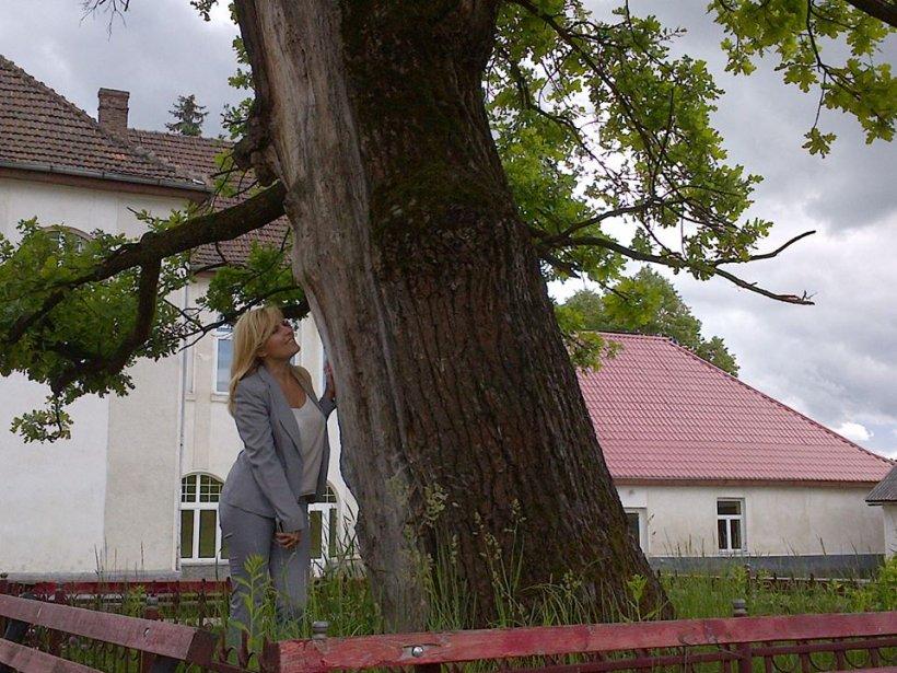 Elena Udrea, la copacul care aduce noroc