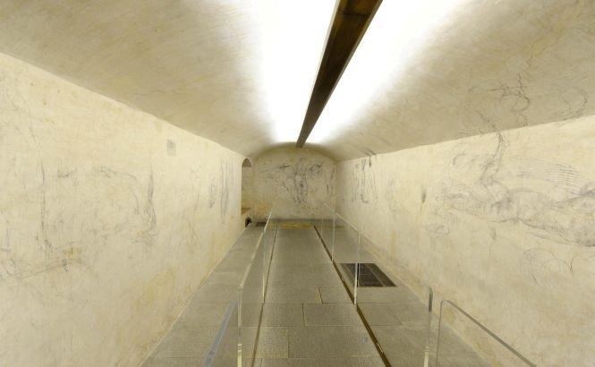 Desenele lui Michelangelo descoperite într-o sală secretă, prezentate în premieră pentru public