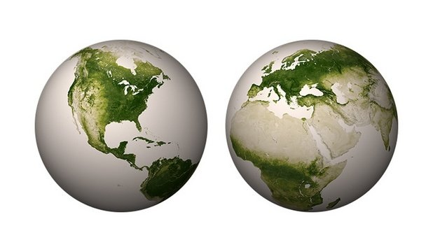 Imagini extraordinare din satelit: Pământul, planeta cu vegetaţie luxuriantă