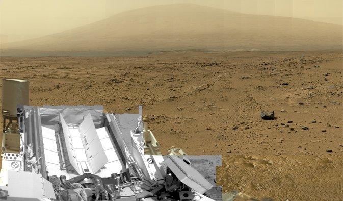 Panoramă spectaculoasă de 1,3 miliarde pixeli, realizată de robotul Curiosity pe planeta Marte