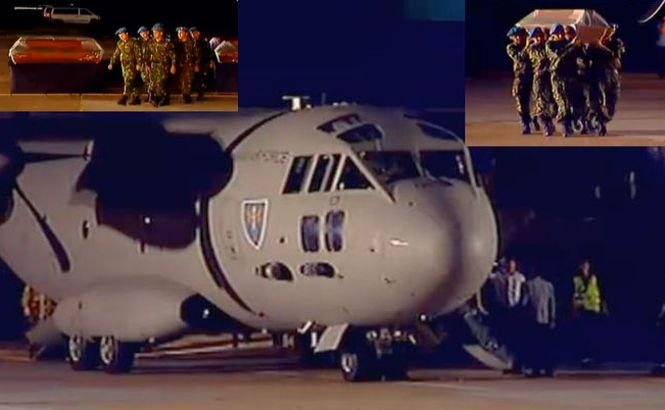 ACCIDENT ÎN MUNTENEGRU. Toate victimele au ajuns în România. Premierul Ponta a asistat la slujba religioasă care a avut loc pe aeroport
