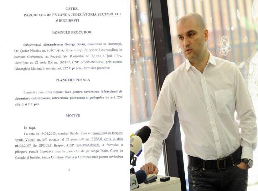 Plângerea penală depusă de Sorin Alexandrescu împotriva administratorului RCS & RDS