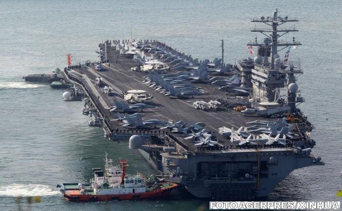 Un portavion american se îndreaptă spre Siria. Rusia a trimis o navă de supraveghere informatică spre coastele siriene