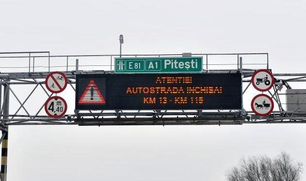 Şoferi BLOCAŢI în zăpadă, pe Autostrada A1: Aşteptăm ARMATA!