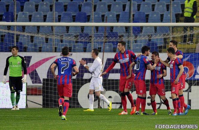 Steaua îşi continuă drumul spre titlul 25. Campioana a învins cu 4-0 pe FC Botoşani