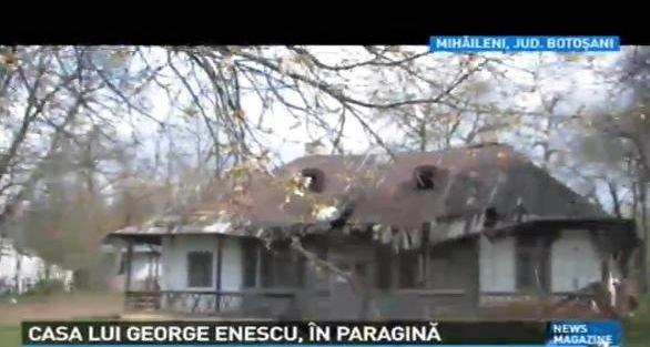 Casa lui George Enescu, ÎN PARAGINĂ