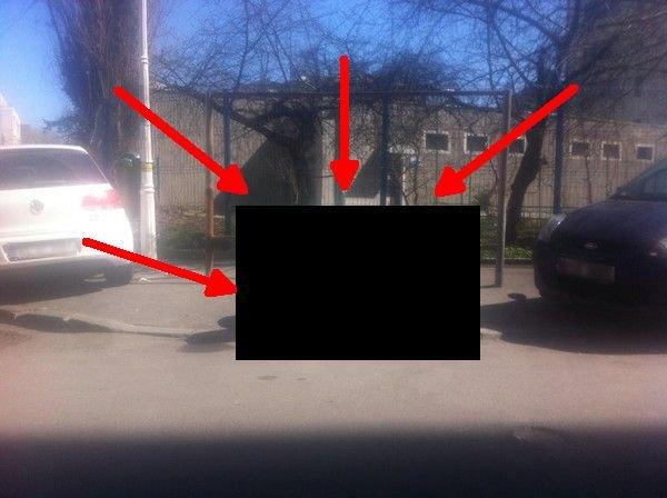 Ce a făcut un şofer din Timişoara, pe trotuar, acolo unde se parcau de obicei maşinile. Fotografiile au ajuns viral pe net