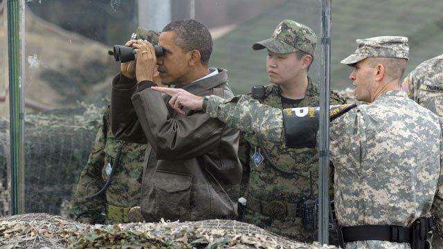 """Barack Obama, într-o vizită de două zile în Coreea de Sud. """"Vecinul"""" dictator ameninţă cu efectuarea celui de-al patrulea test nuclear"""