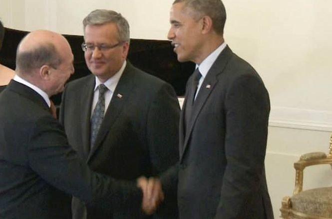 Preşedintele Băsescu s-a întâlnit în Polonia cu Barack Obama
