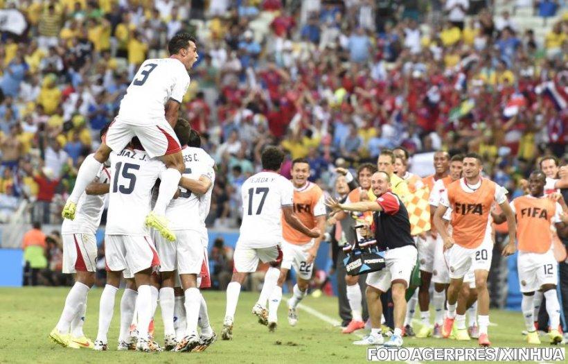 Costa Rica a învins Uruguay cu 3-1 şi a produs prima mare surpriză a Cupei Mondiale
