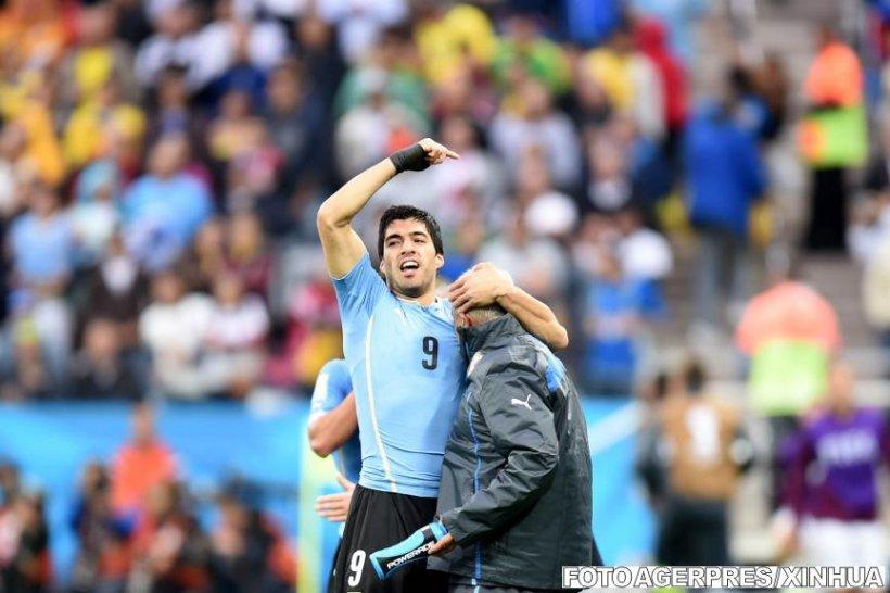 Dubla lui Luis Suarez aduce victoria Uruguayului în meciul cu Anglia, scor 2-1