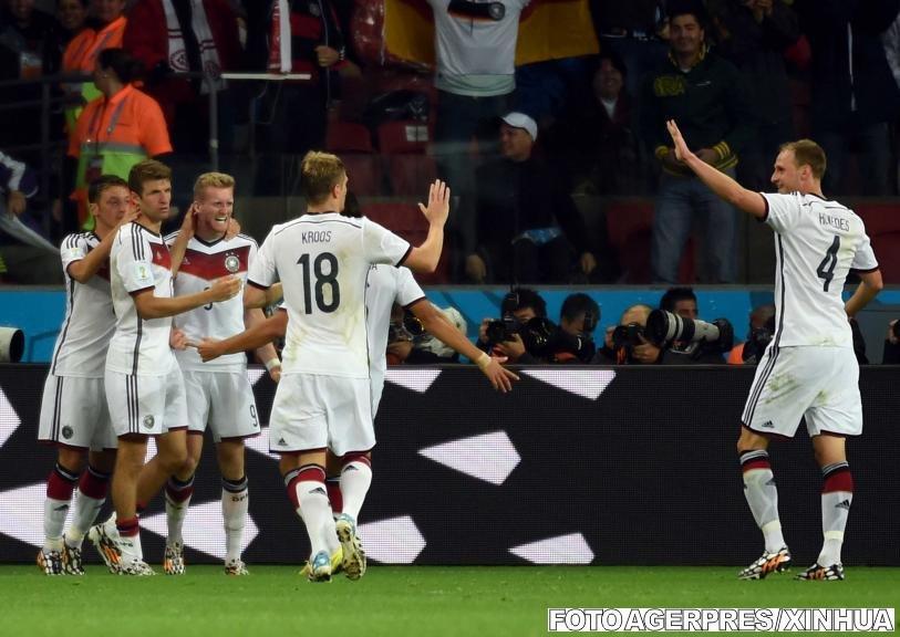 Germania a învins Algeria după prelungiri şi s-a calificat în sferturile de finală ale Cupei Mondiale