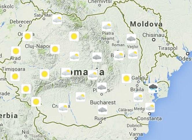 Cum va fi vremea în weekend. Vezi prognoza meteo pentru Bucureşti, mare şi munte