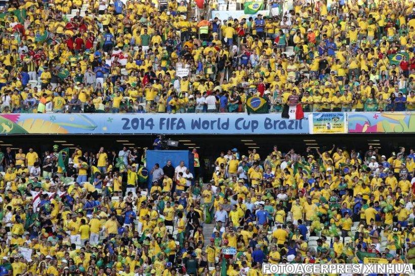 Cupa Mondială din Brazilia, pe locul doi ca medie de spectatori