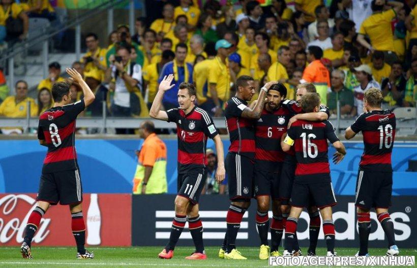 Germania a învins Brazilia cu 7-1 şi s-a calificat în finala Cupei Mondiale