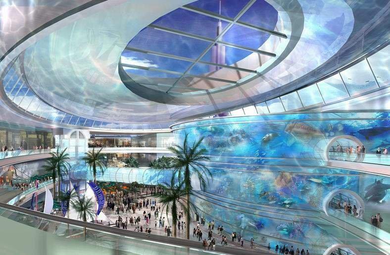 Cel mai mare mall din lume va avea o suprafaţă de 4,5 milioane de metri pătraţi. Va putea fi traversat de CORĂBII