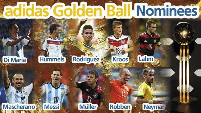 FIFA a anunţat numele celor 10 jucători nominalizaţi pentru Balonul de Aur al Cupei Mondiale