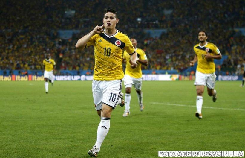 James Rodriguez, primul golgheter columbian din istoria Cupei Mondiale