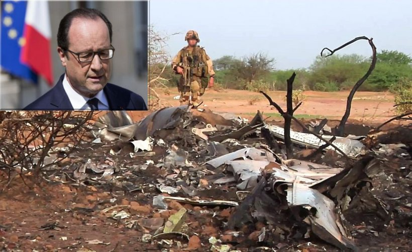 Franţa şi-a coborât toate drapelele în bernă, în semn de doliu pentru victimele avionului Air Algérie prăbuşit în Mali