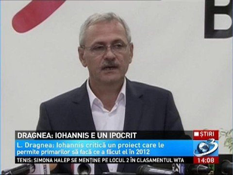 Dragnea: Iohannis is a hypocrite. He is in a situation of political bigamy 114