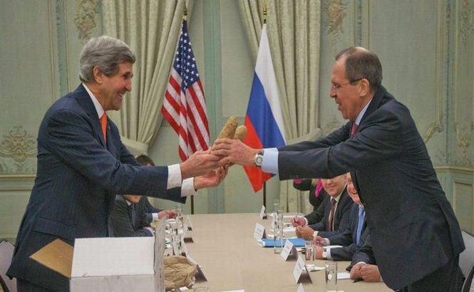 """Kerry şi Lavrov se întâlnesc la Paris pentru un """"dialog constructiv"""""""
