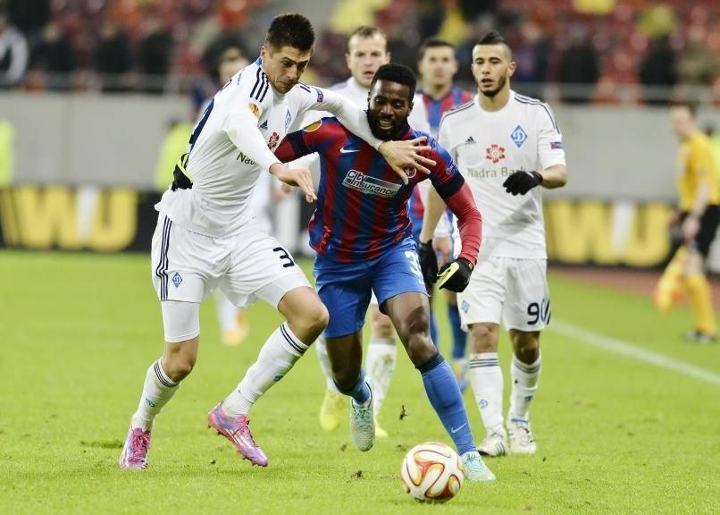 Steaua a fost eliminată din Liga Europa, după ce a pierdut în faţa echipei Dinamo Kiev, scor 0-2