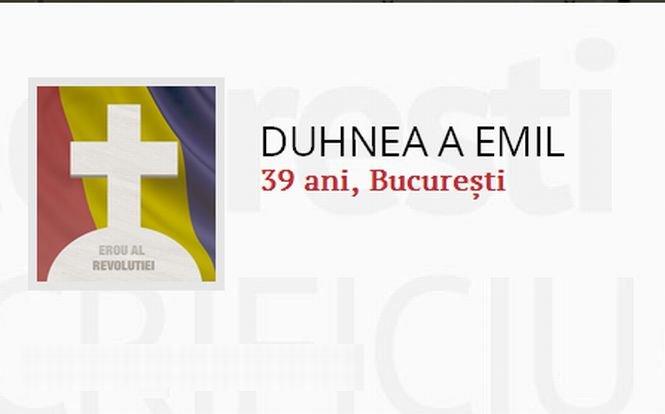 """Dă viaţă eroilor! Duhnea A. Emil - """"A refuzat să fie membru PCR"""""""