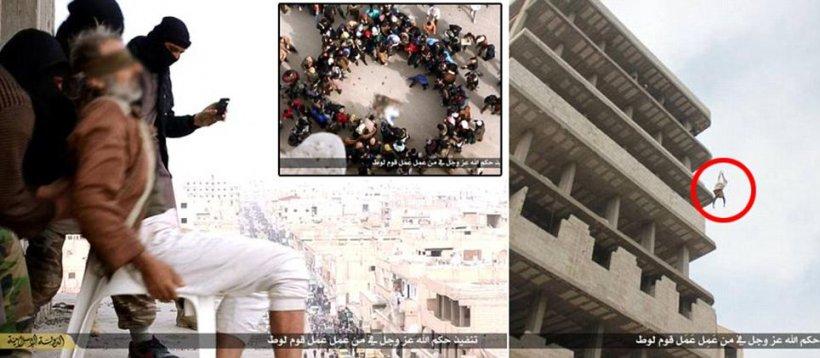 Momentul ŞOCANT în care acest bărbat a fost aruncat de pe o clădire de terorişti. Motivul este revoltător