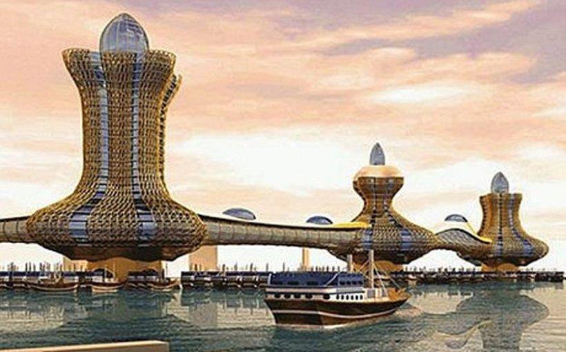 """Minunea care se va ridica din deşert. """"Oraşul lui Aladdin"""", noul proiect-record al arabilor"""