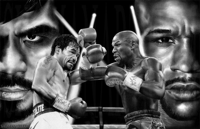 """""""MECIUL SECOLULUI"""" va avea loc. Pacquiao şi Mayweather luptă în luna mai"""