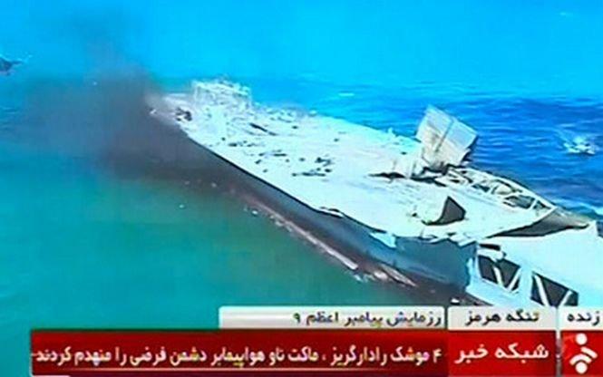 Iranul a distrus o replică a unui portavion american în cadrul unui exerciţiu militar