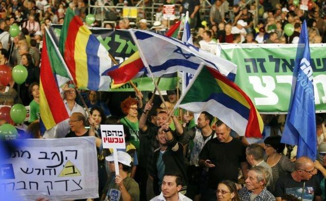 """""""Israelul vrea schimbare"""". Zeci de mii de oameni s-au strâns la Tel Aviv, într-un miting anti-Netanyahu"""