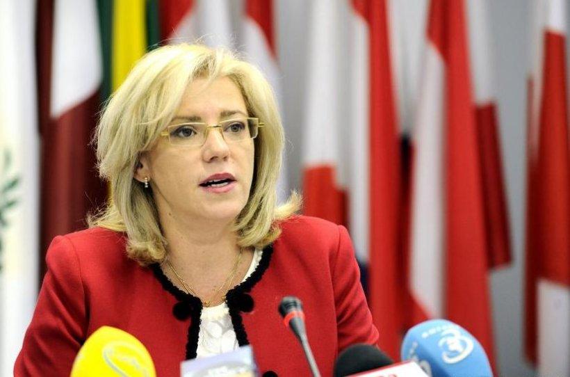 Corina Creţu începe marţi o vizită oficială în România. Comisarul european se întâlneşte cu preşedintele Iohannis şi premierul Ponta