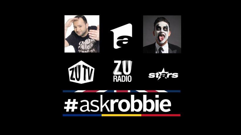Mihai Morar – primul interviu cu Robbie Williams pentru România. Pune-i şi tu întrebări artistului, folosind #askrobbie
