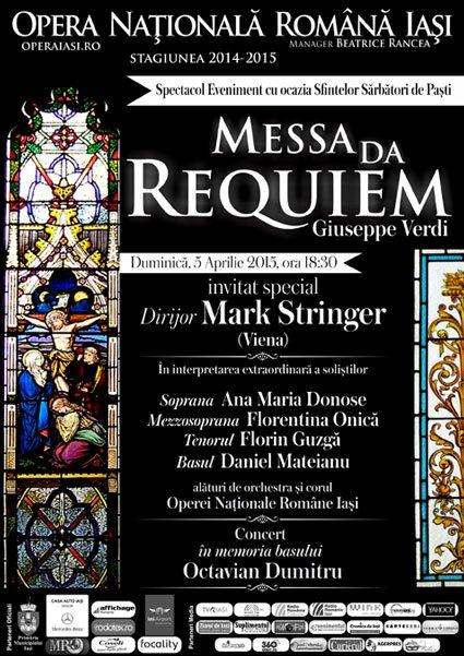 Messa da Requiem de Giuseppe Verdi, la Opera Naţională Română Iaşi