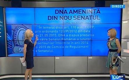 """100 de minute. DNA somează Senatul: """"Dacă nu se predau actele, se obstrucţionează justiţia"""""""
