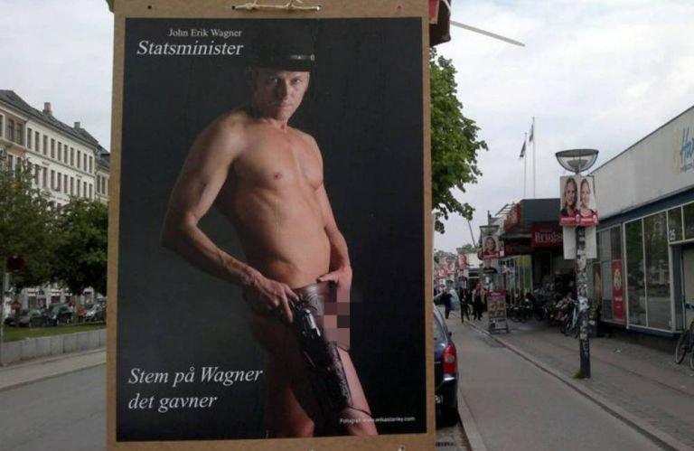 Danemarca. Un candidat la funcţia de prim-ministru apare pe jumătate gol în posterele electorale