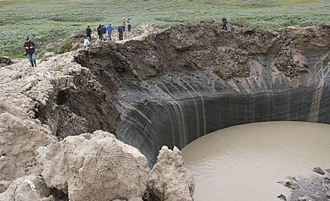 Craterul uriaş din Siberia se transformă