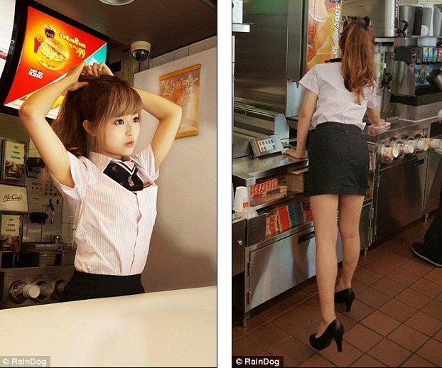 Toti clienții au rămas cu gura căscată când au văzut-o. Cum arată vânzătoarea de la McDonald's! Un client a pozat-o și...