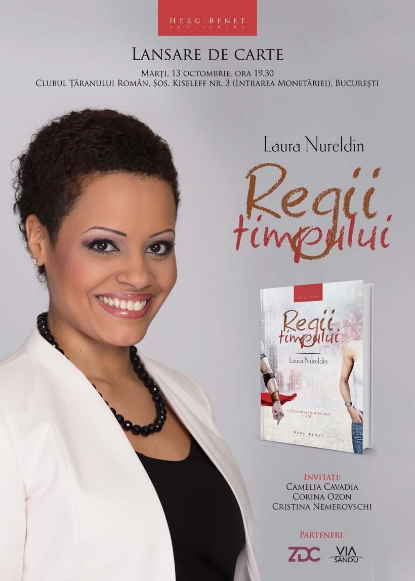 """Laura Nureldin își lansează cartea """"Regii timpului"""""""