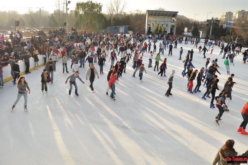 Se deschide cel mai mare patinoar din București. Cât va costa intrarea