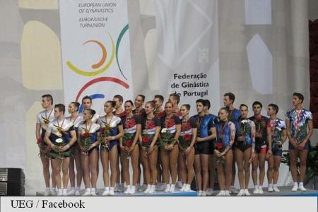 Gimnastică aerobică: România a cucerit aurul pe echipe la Europenele din Portugalia
