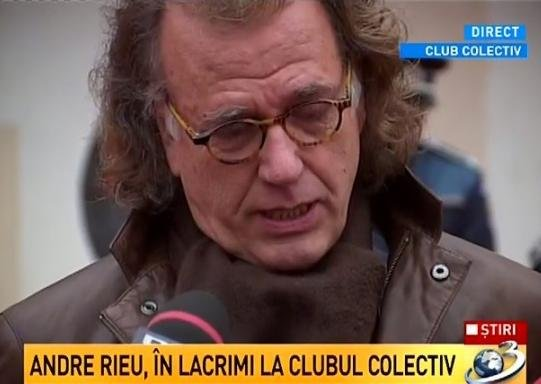 André Rieu is launching the DVD of his live concern in Bucharest. The profit will be donated to the victims of the Collective club fire 114