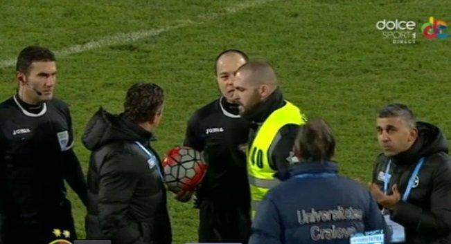 Scandal cu Laurențiu Reghecampf în timpul meciului Steaua-CSU Craiova