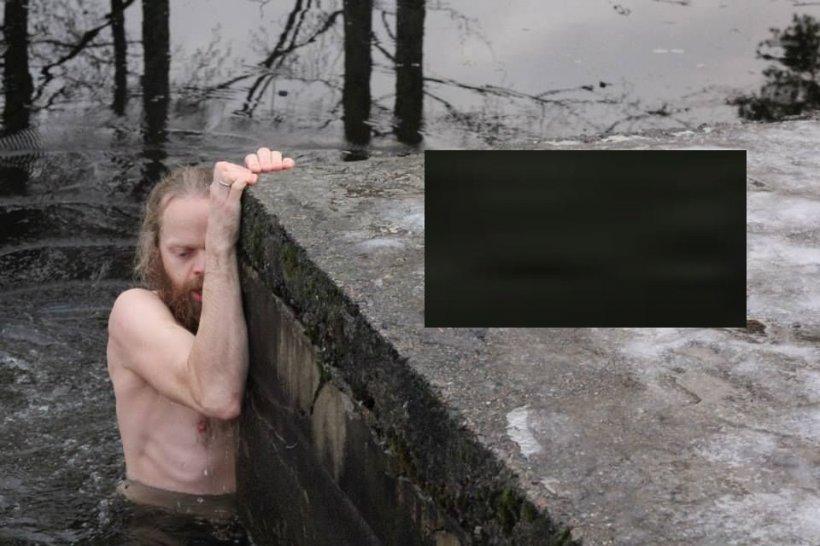 Nu mulți oameni ar fi făcut asta. Se plimba pe marginea unui lac aproape înghețat, când a văzut ceva care l-a făcut să sară în apă