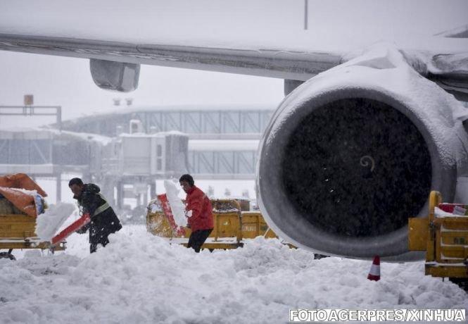 Record de zăpadă. Stratul de omăt măsoară 43 de centimetri
