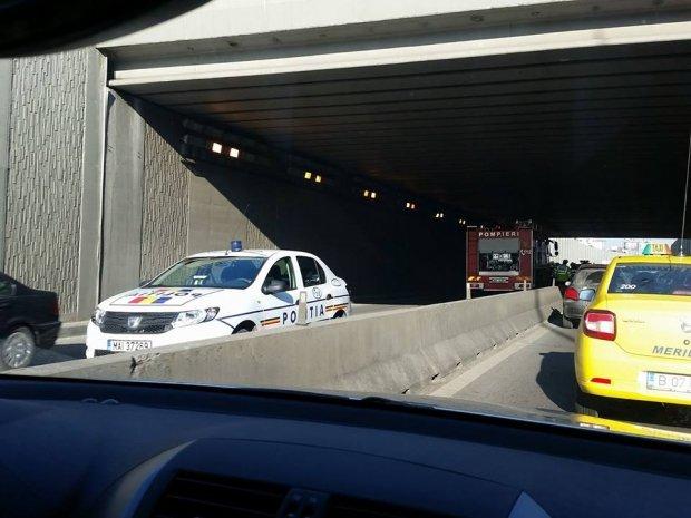 Accident grav în București, trafic blocat