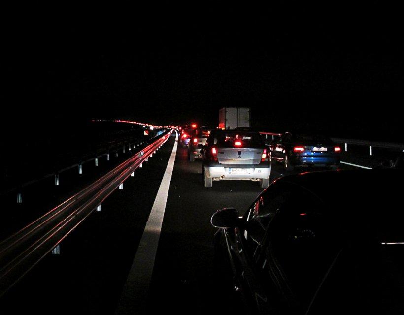 Accident pe A1, aproape de Bucureşti