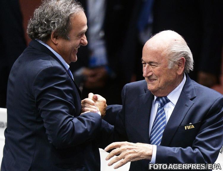 Blatter și Platini, suspendați 8 ani din toate activitățile legate de fotbal